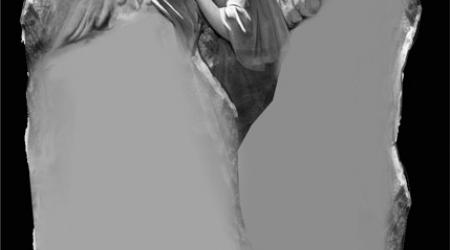 anioł - projekt rzeźby nagrobnej w kamieniu