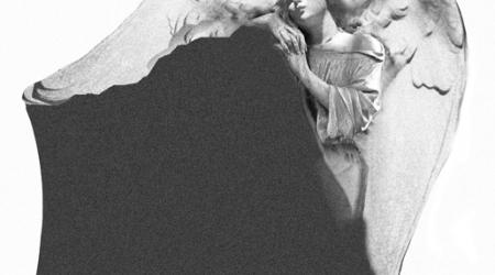rzeźba w kamieniu - projekt z wizerunkiem anioła