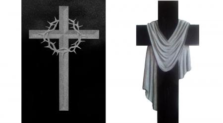 Krzyże - przykłady rzeźb nagrobnych