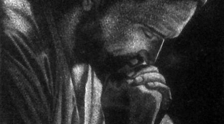 Nagrobki rzeźbione w kamieniu - Jezus